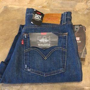 Levi's 501 Original High Rise Straight Leg Jeans